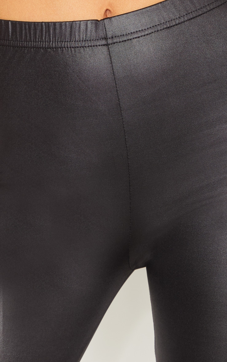 Tall  Black PU Leggings 5