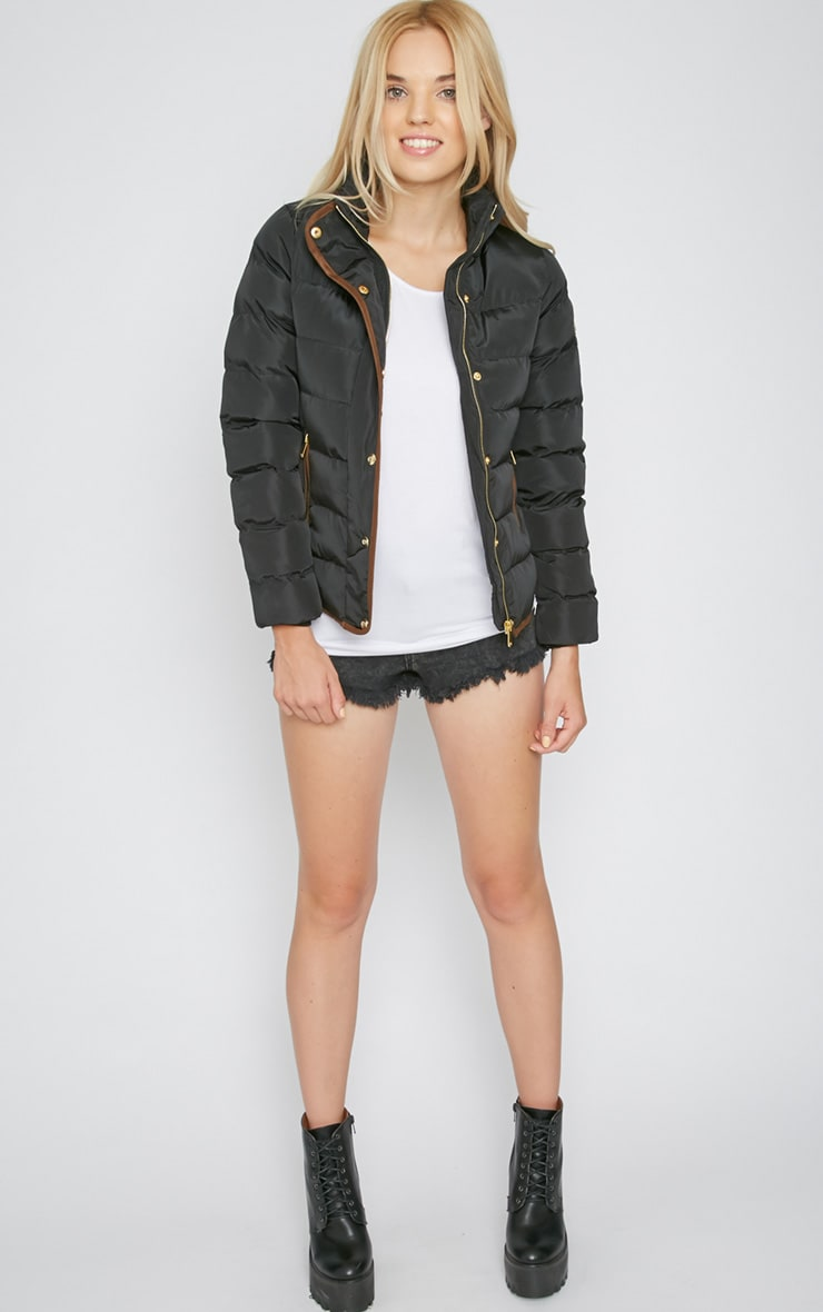 Jenny Black Quilted Jacket  5