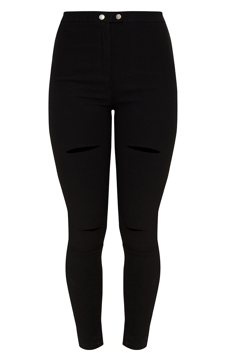 Black Double Button Disco Skinny Jean 3