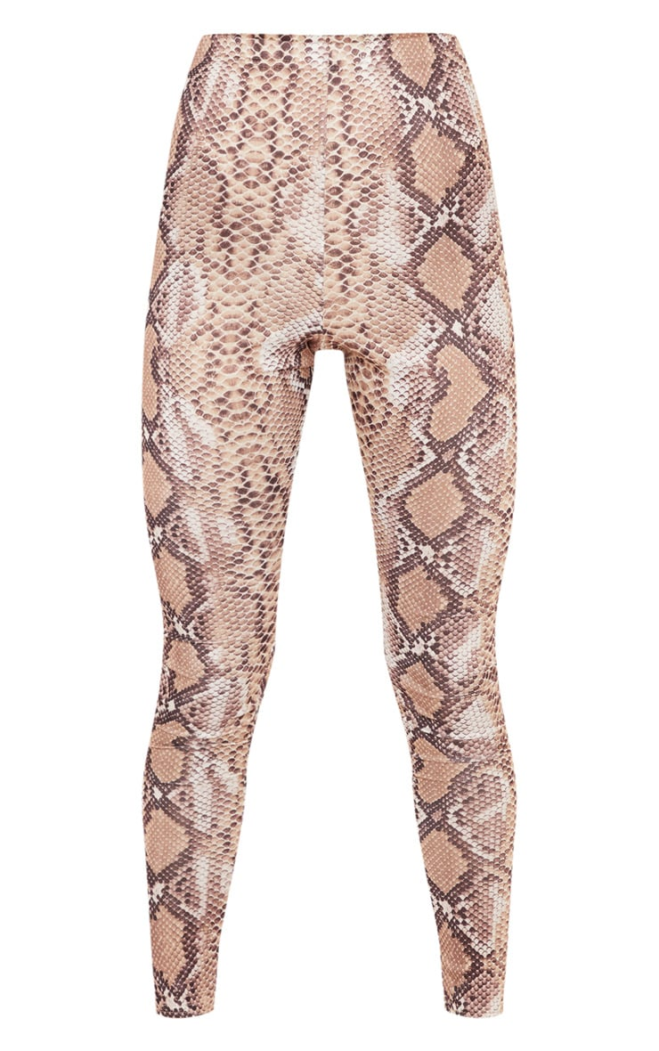 Brown Snakeskin Print Legging 3