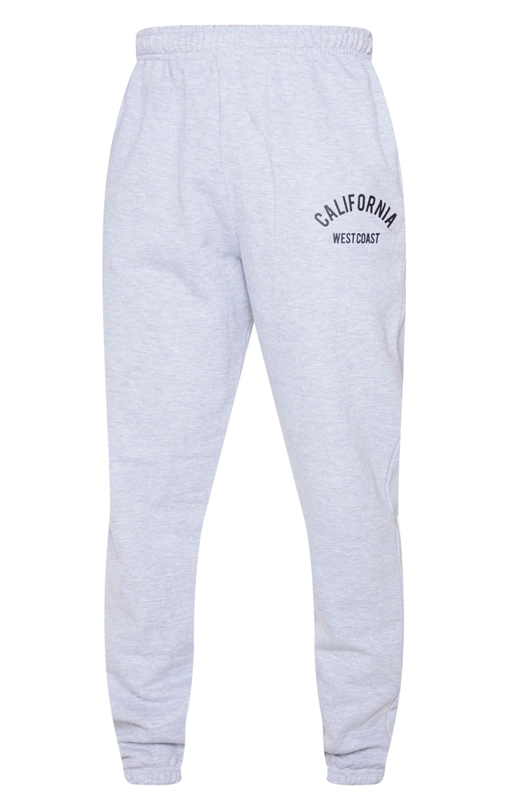 Grey Marl California Casual Jogger 5