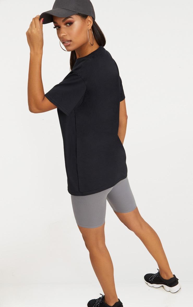 Black Brooklyn Slogan Oversized T Shirt 2