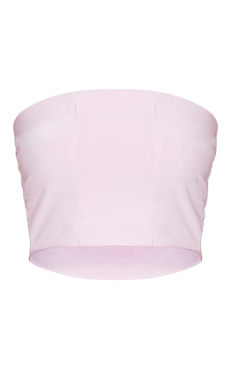 Helsa Pastel Pink Slinky Bandeau Crop Top 3