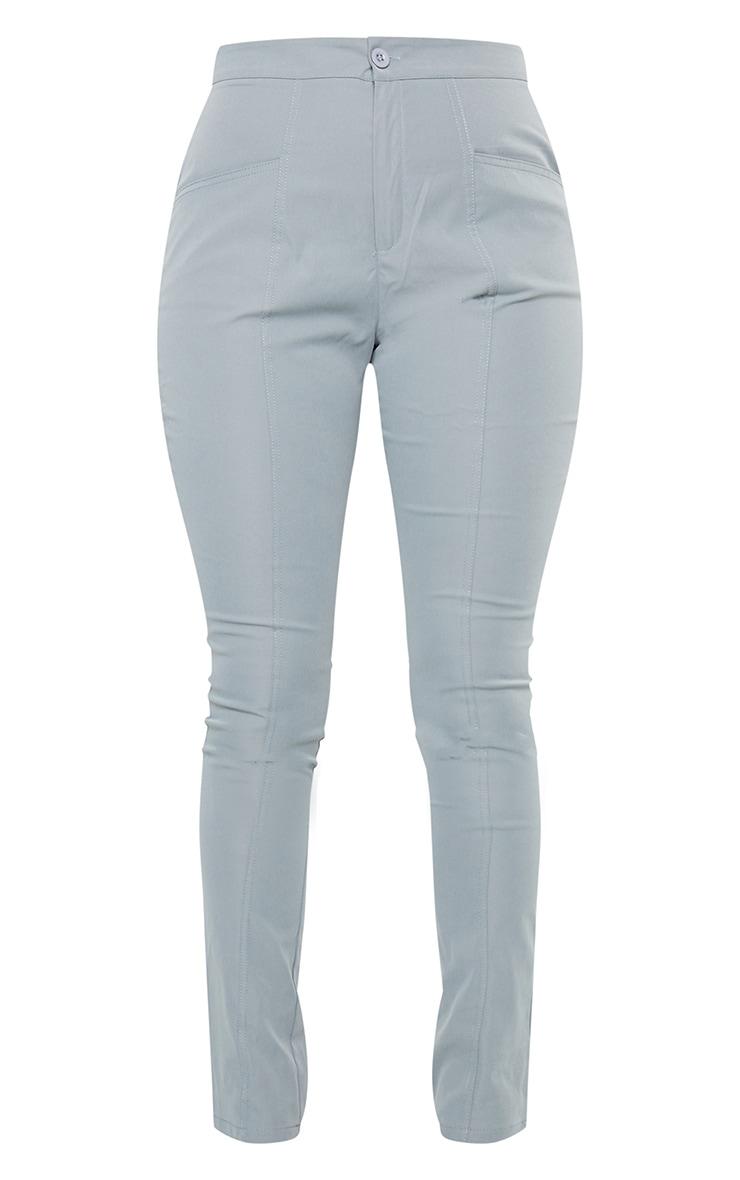 Blue Pocket Detail Skinny Trousers 5