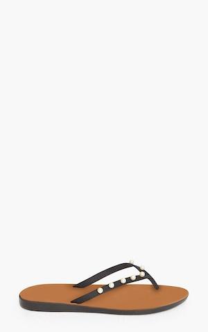 b243a8097129 ... Black Pearl Flip Flops image 3 ...