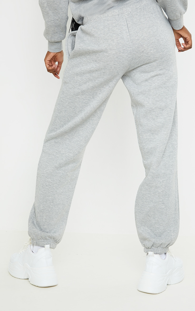 PRETTYLITTLETHING Tall Grey Studio Oversized Joggers 3