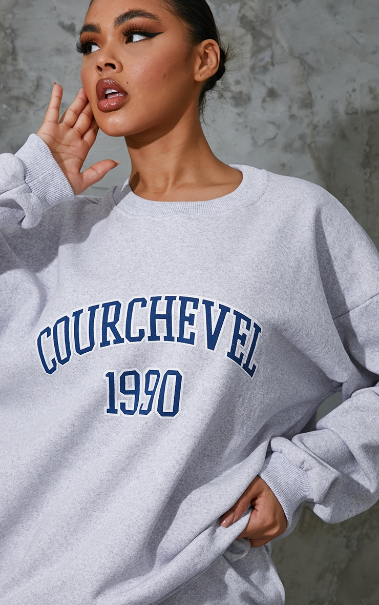 Ash Grey Courchevel 1990 Printed Sweatshirt 1