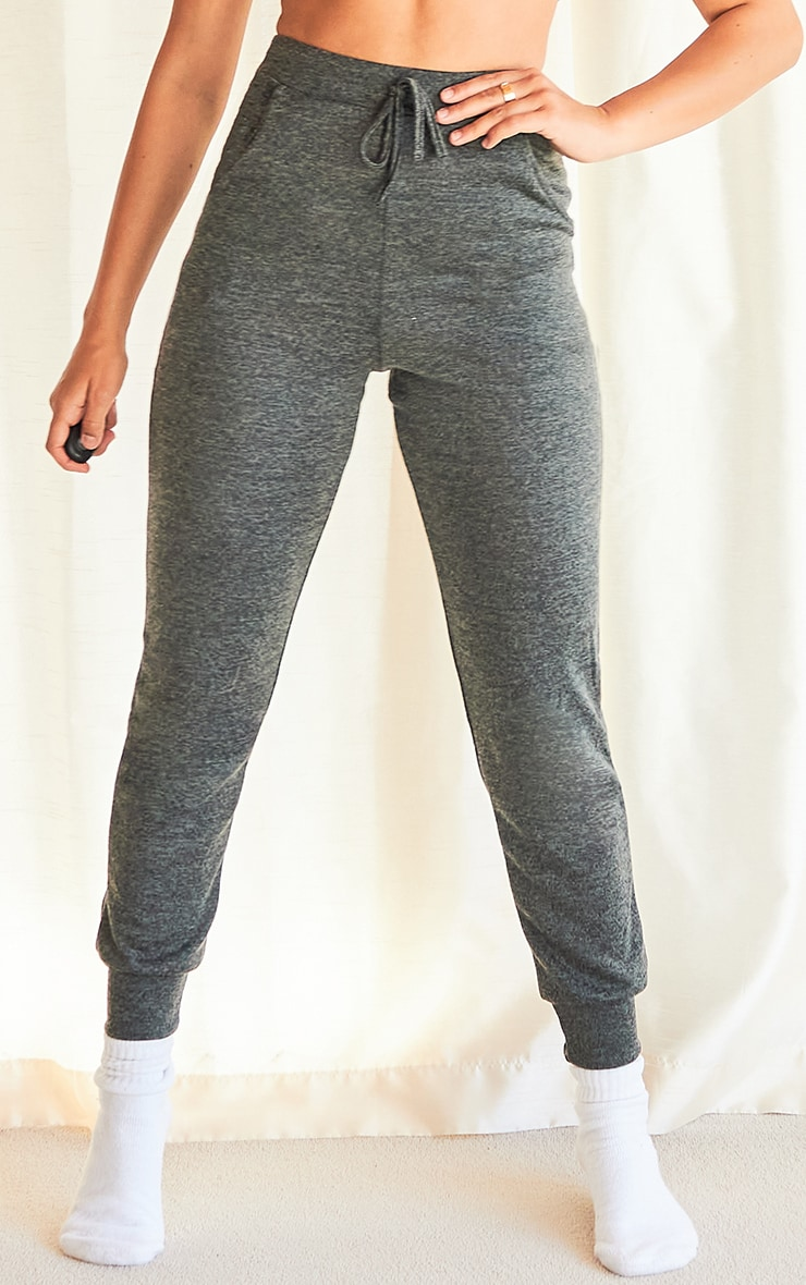 Charcoal Brushed Marl Skinny Joggers 2