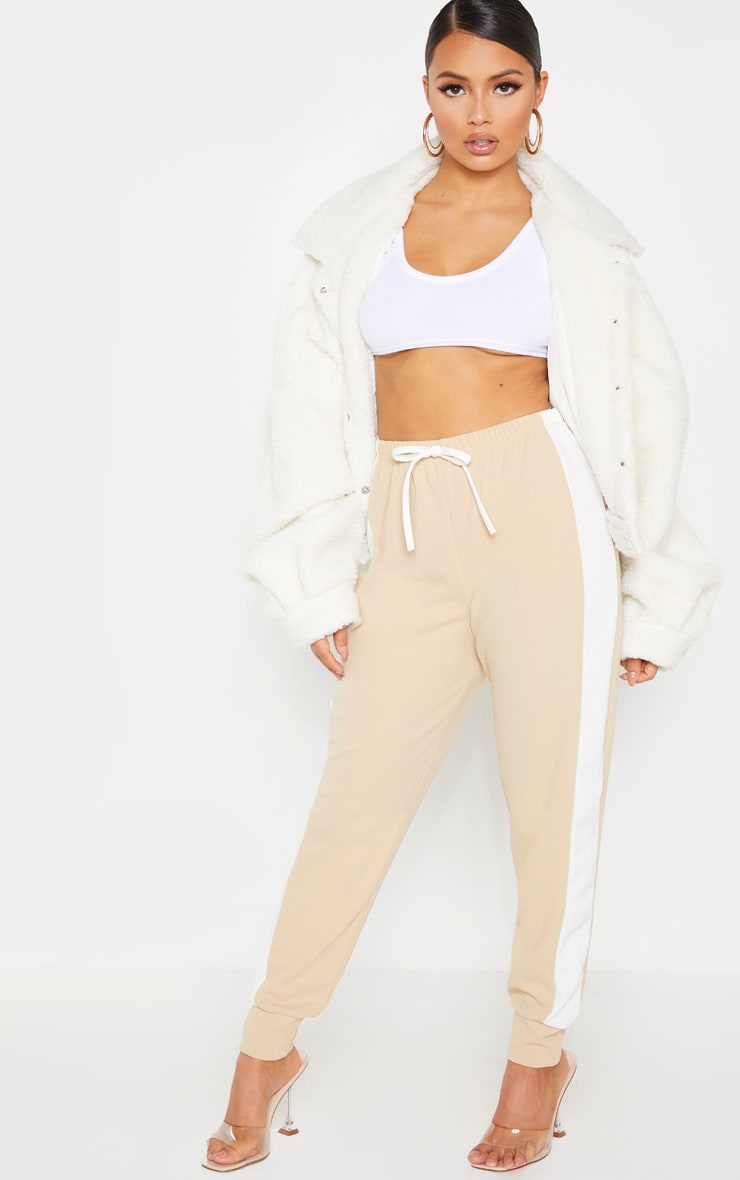 Petite Stone Side Stripe Detail Track Pants 1