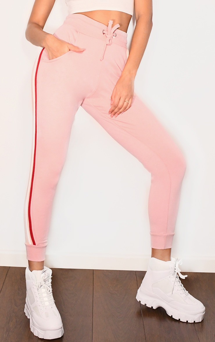 Pink Side Stripe Detail Joggers 2