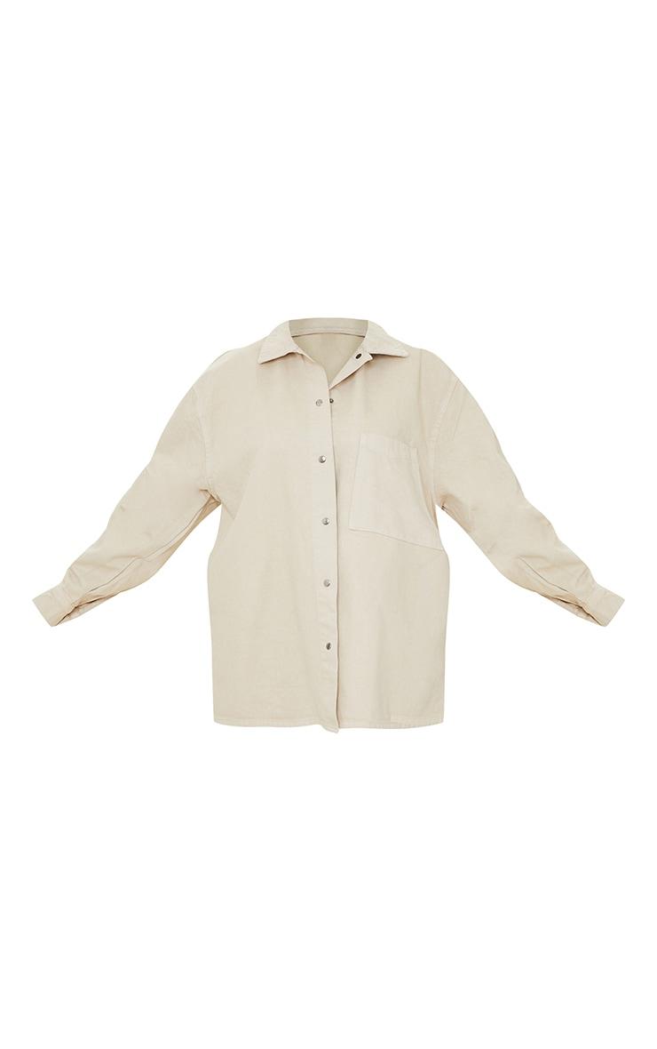 Stone Oversized Denim Shirt 5