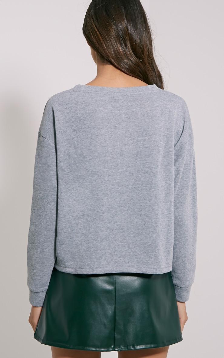 Kiera Grey Lace Up Side Sweatshirt 3