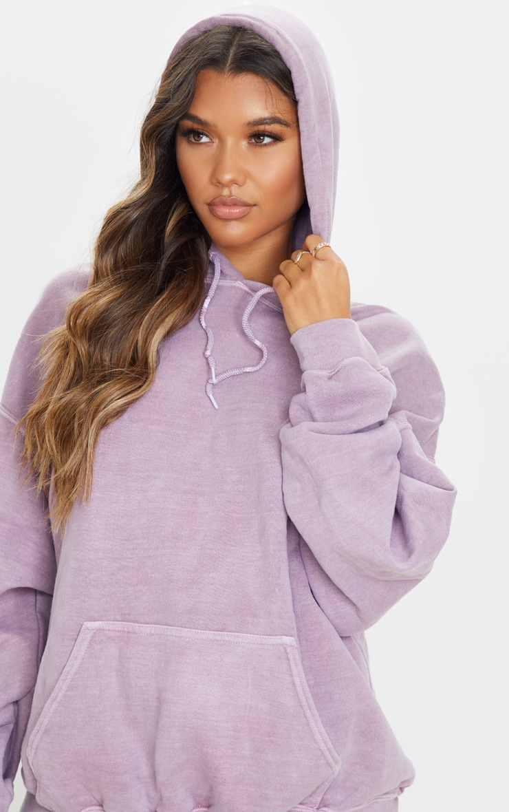 Dusty Lilac Washed Ultimate Oversized Hoodie 5