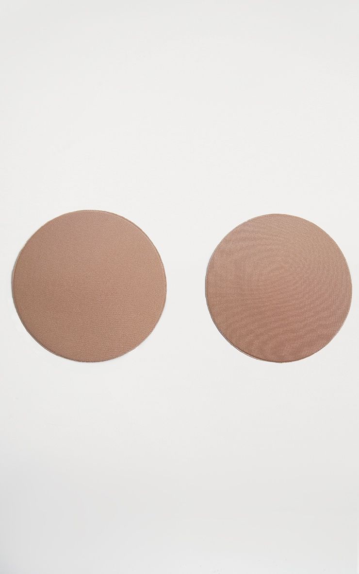 Nude Reusable Fabric Silicone Nipple Covers 1