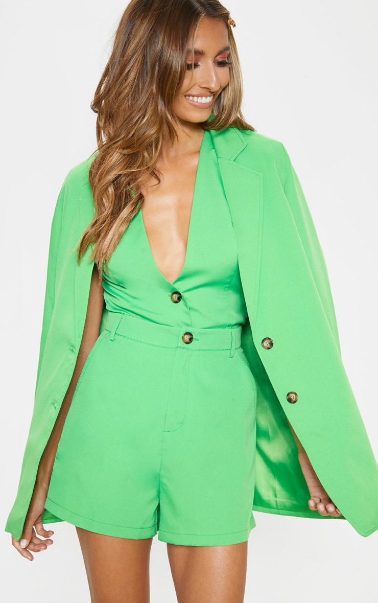 Neon Green Formal Suit Short  1