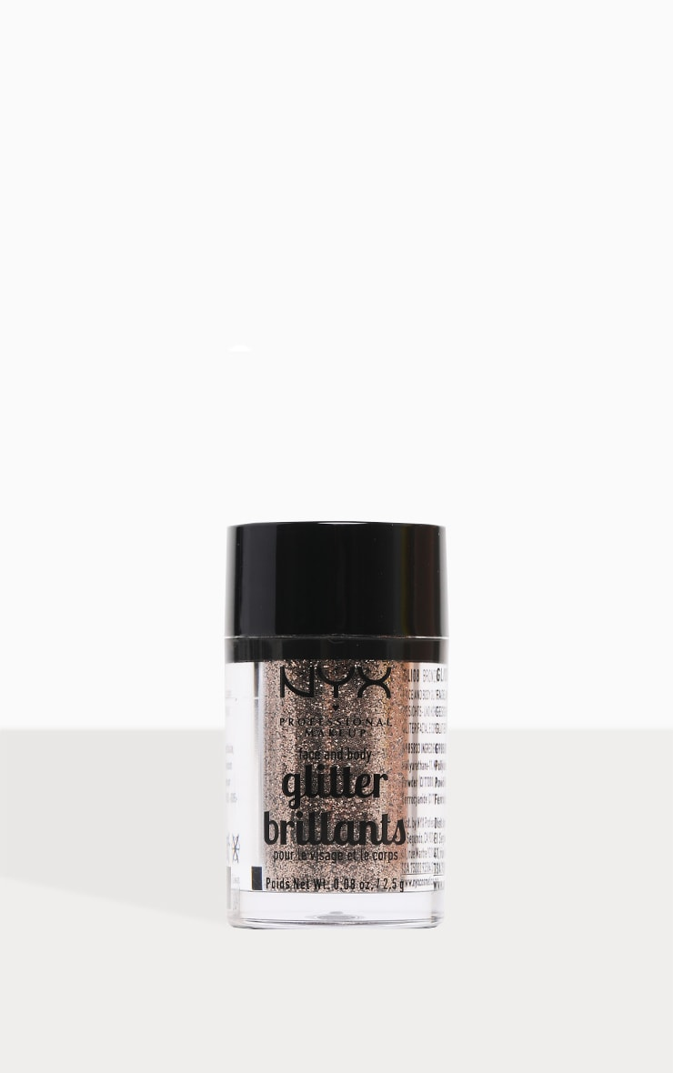 NYX PMU Face & Body Glitter Bronze 1