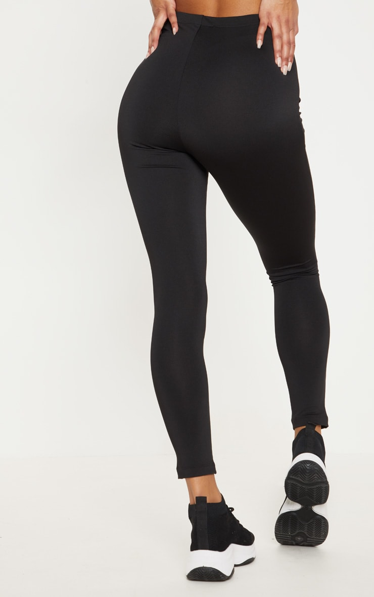 PRETTYLITTLETHING Black Zip Up Front Gym Legging 4