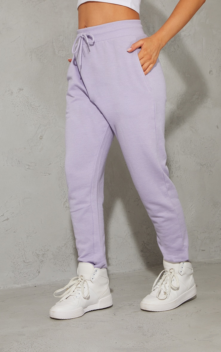 Lavender Diamante Detail Tapered Joggers 2
