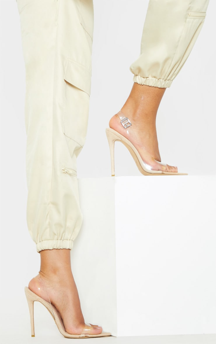 Nude Slingback Point Toe Heeled Sandal  2