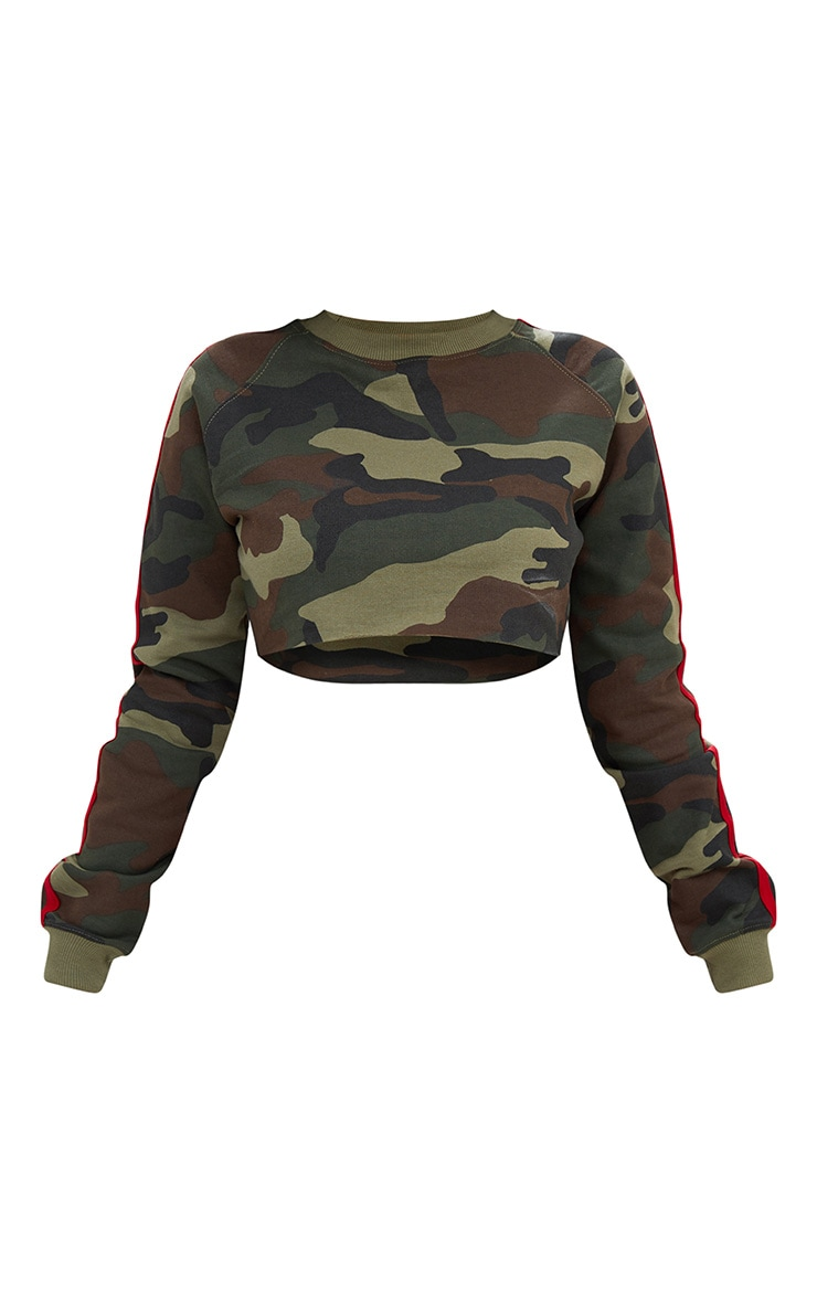 Shape Camo Side Stripe Sweater 3