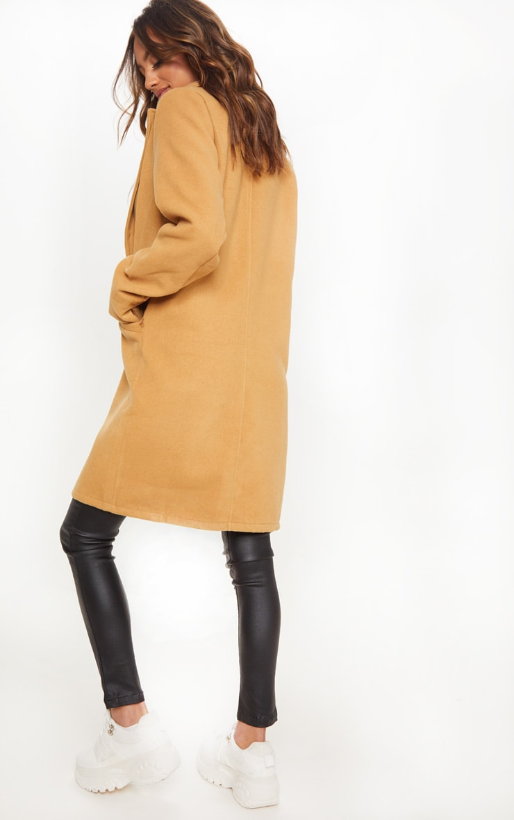 Camel Pocket Front Coat  2