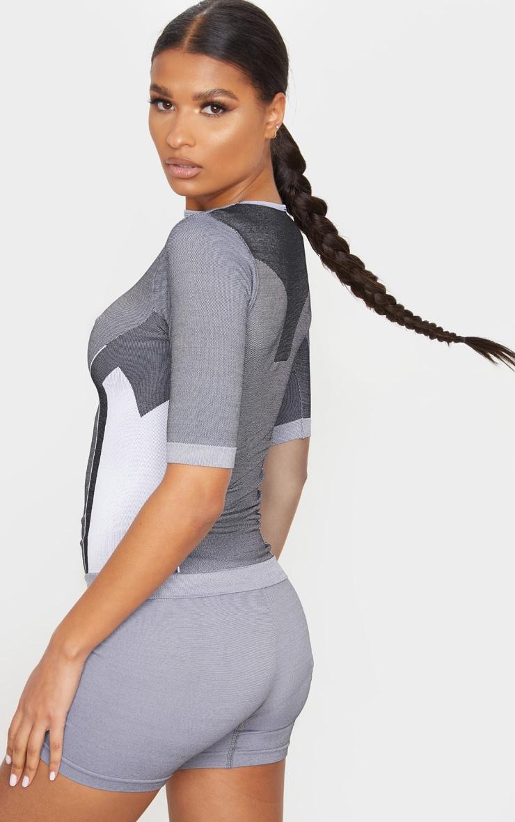 Grey Seamless Contour T-Shirt 2