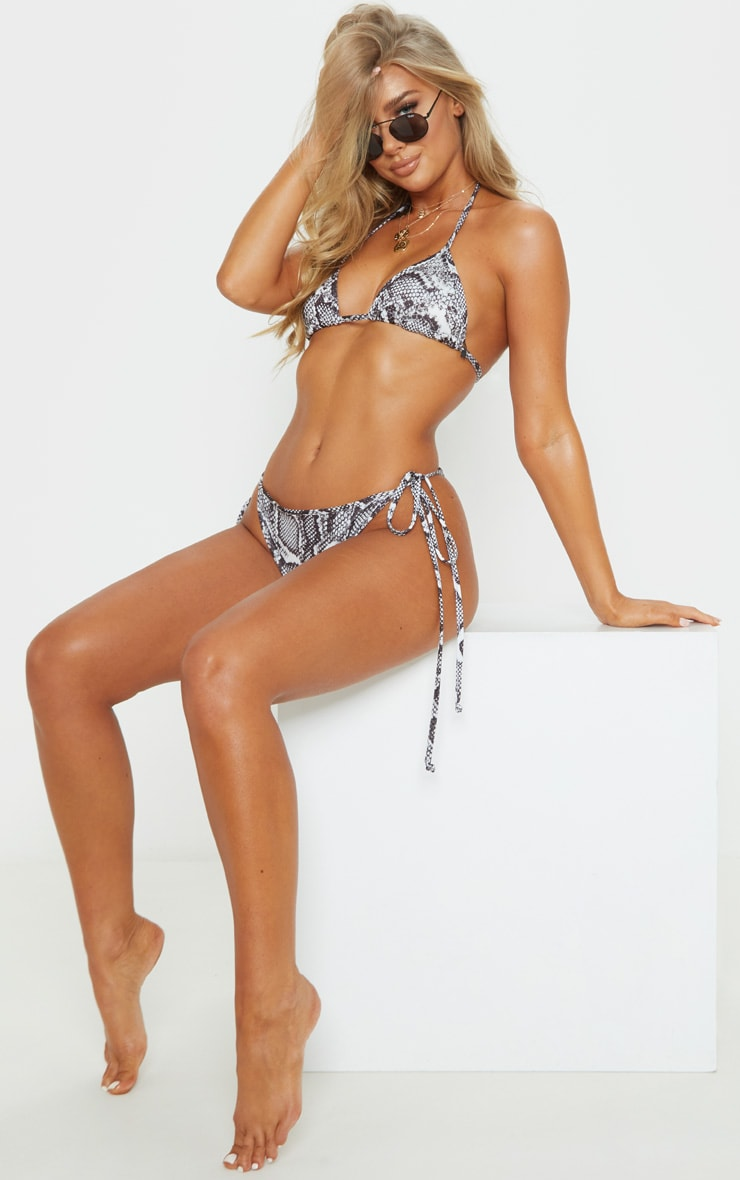 Snake Mix & Match Tie Side Bikini Bottom 5