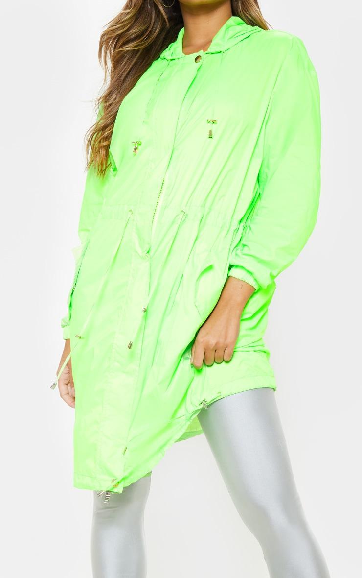 Lime Longline Rainmac  5