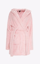 PRETTYLITTLETHING Pink Fluffy Robe 4