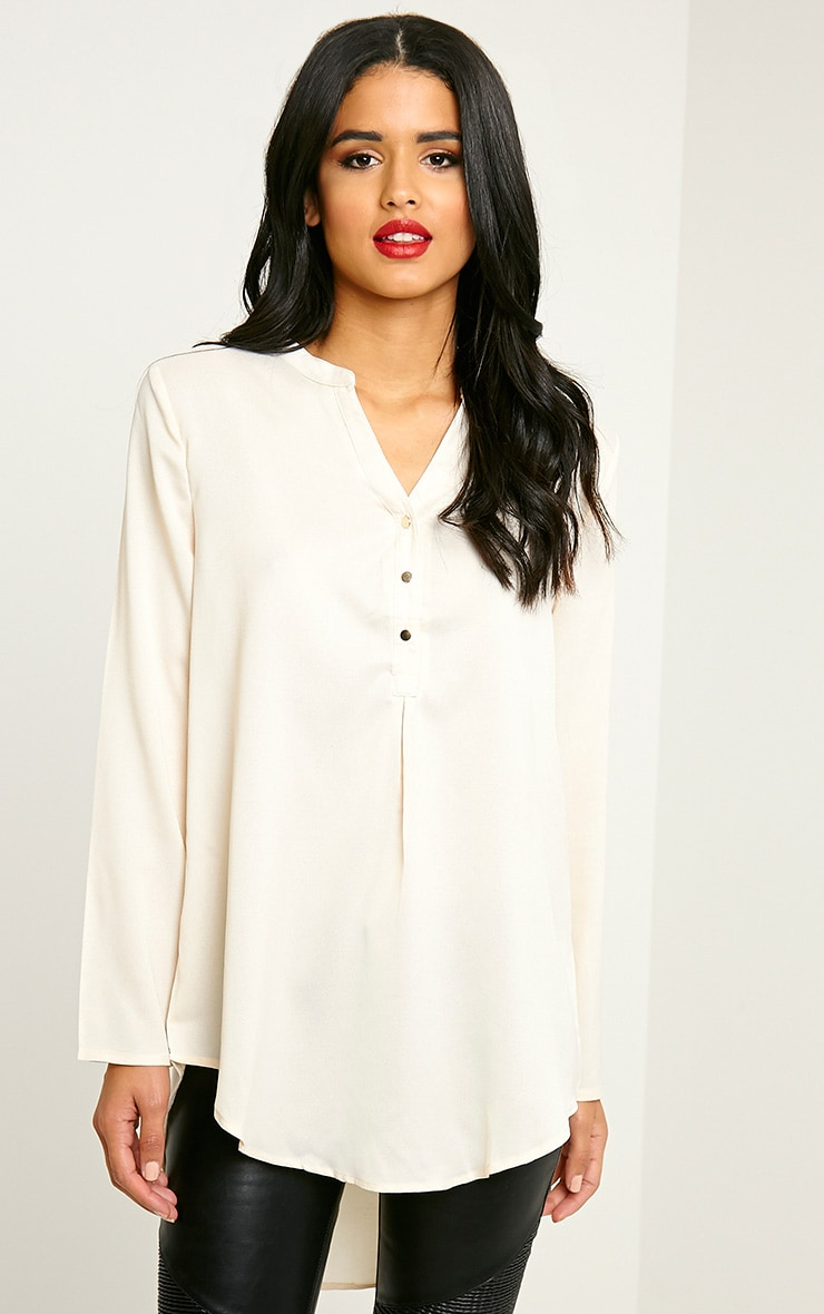 Caia Cream Oversized Shirt 1