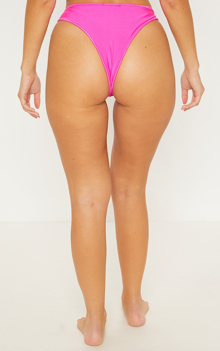 Pink Mix & Match V Front Brazilian Bikini Bottom 4