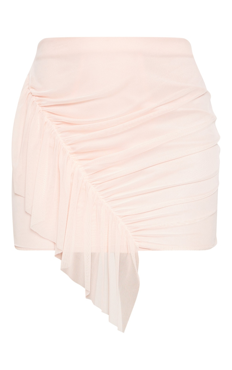 Blush Mesh Frill Detail Mini Skirt  3