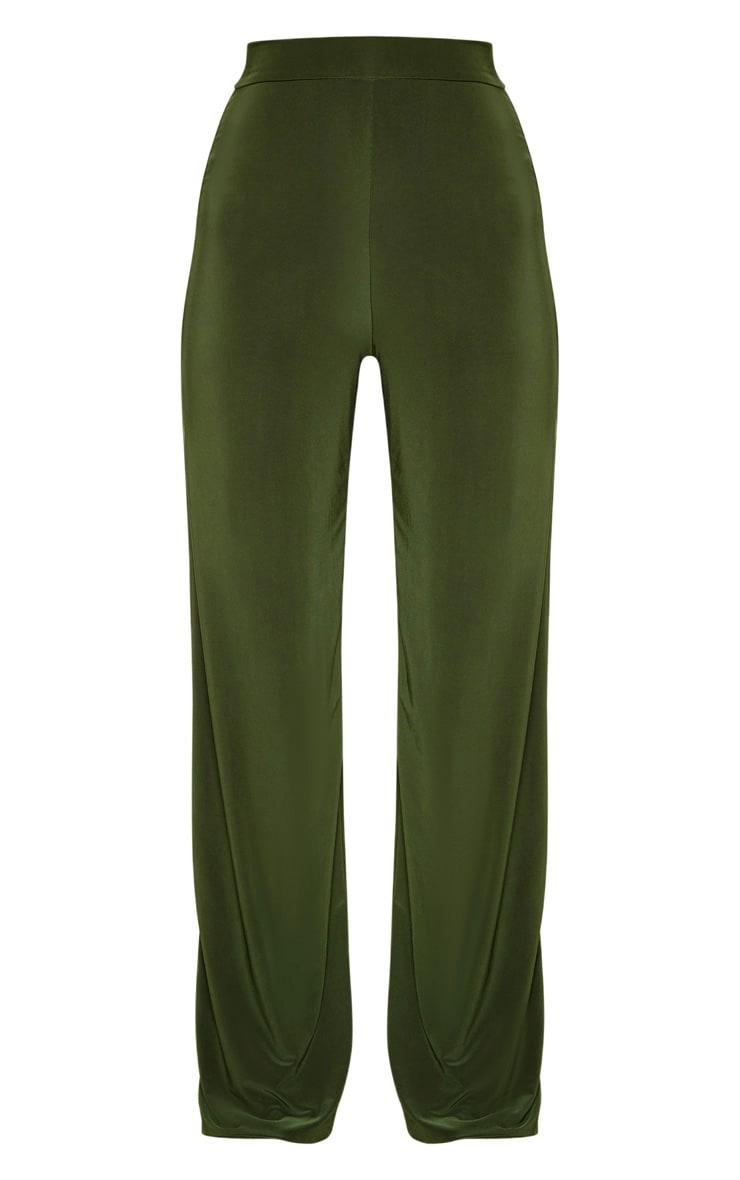 Petite - Pantalon slinky ample vert  3