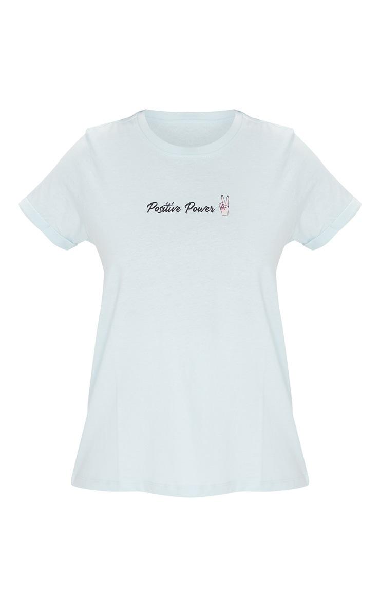 Baby Blue Positive Power Organic Cotton T Shirt 5