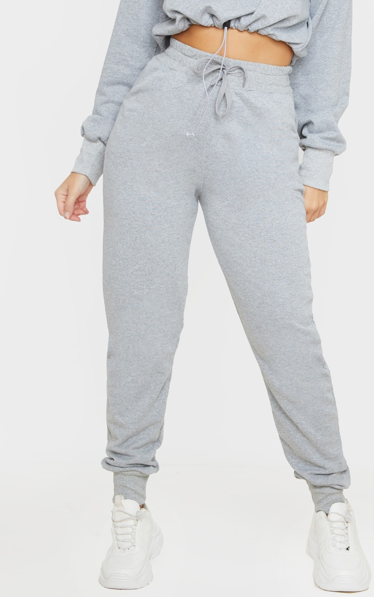 PRETTYLITTLETHING Grey Basic Gym Sweat Jogger 2