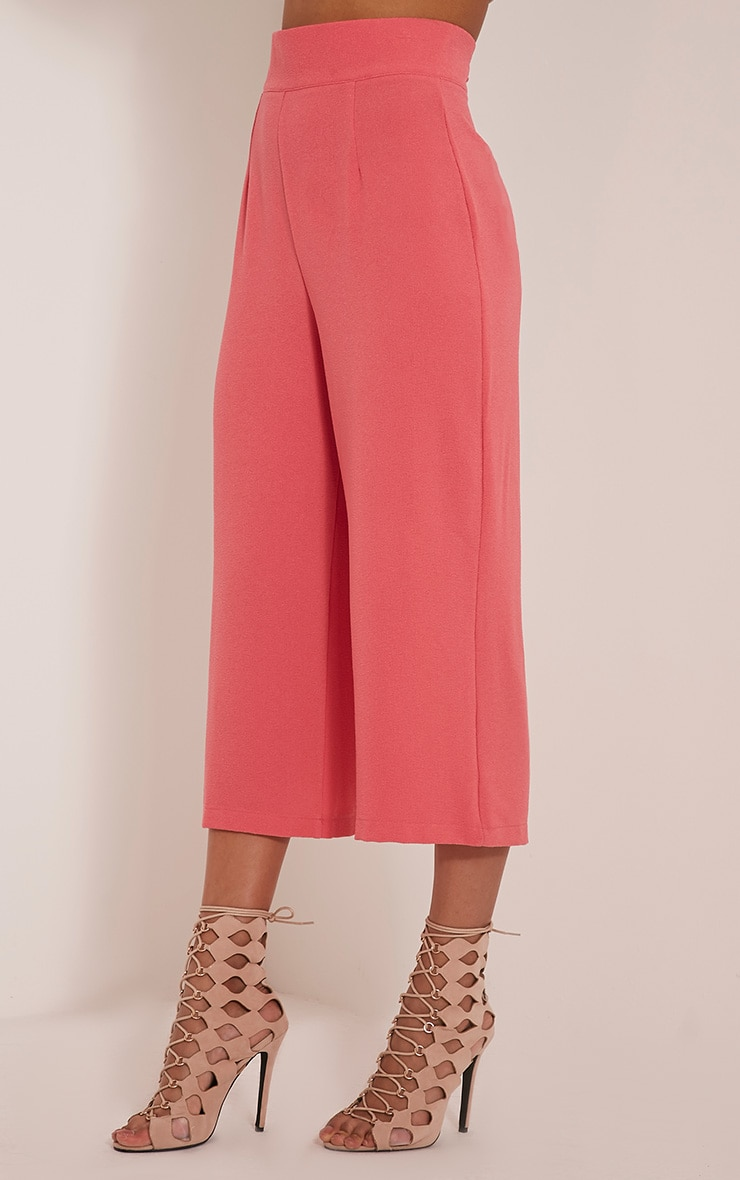 Tazmin Coral High Waisted Culottes 4