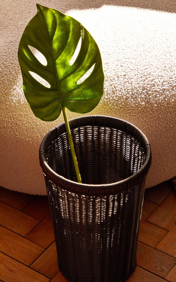 Green Artificial Single Monstera Leaf 1