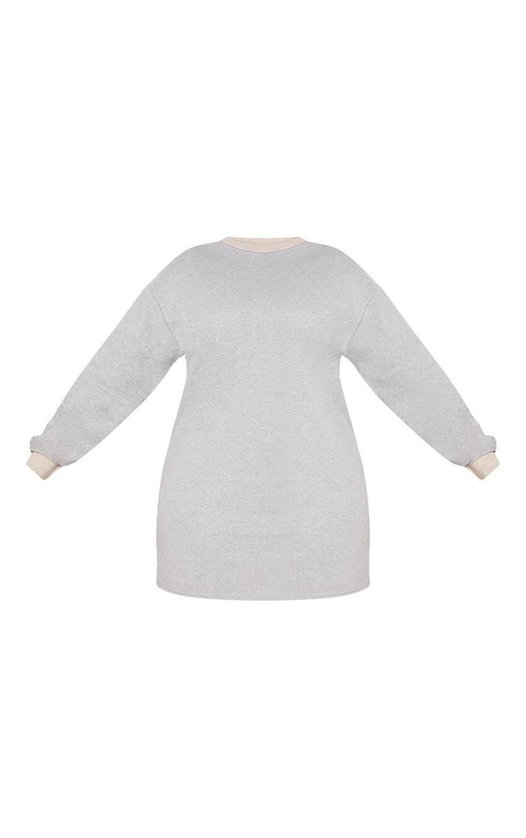 Plus Grey Marl Oversized Sweater Dress 3