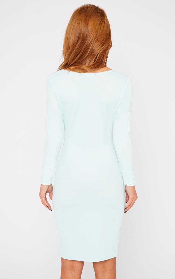 Hayley Mint Crepe Cross Over Dress 2