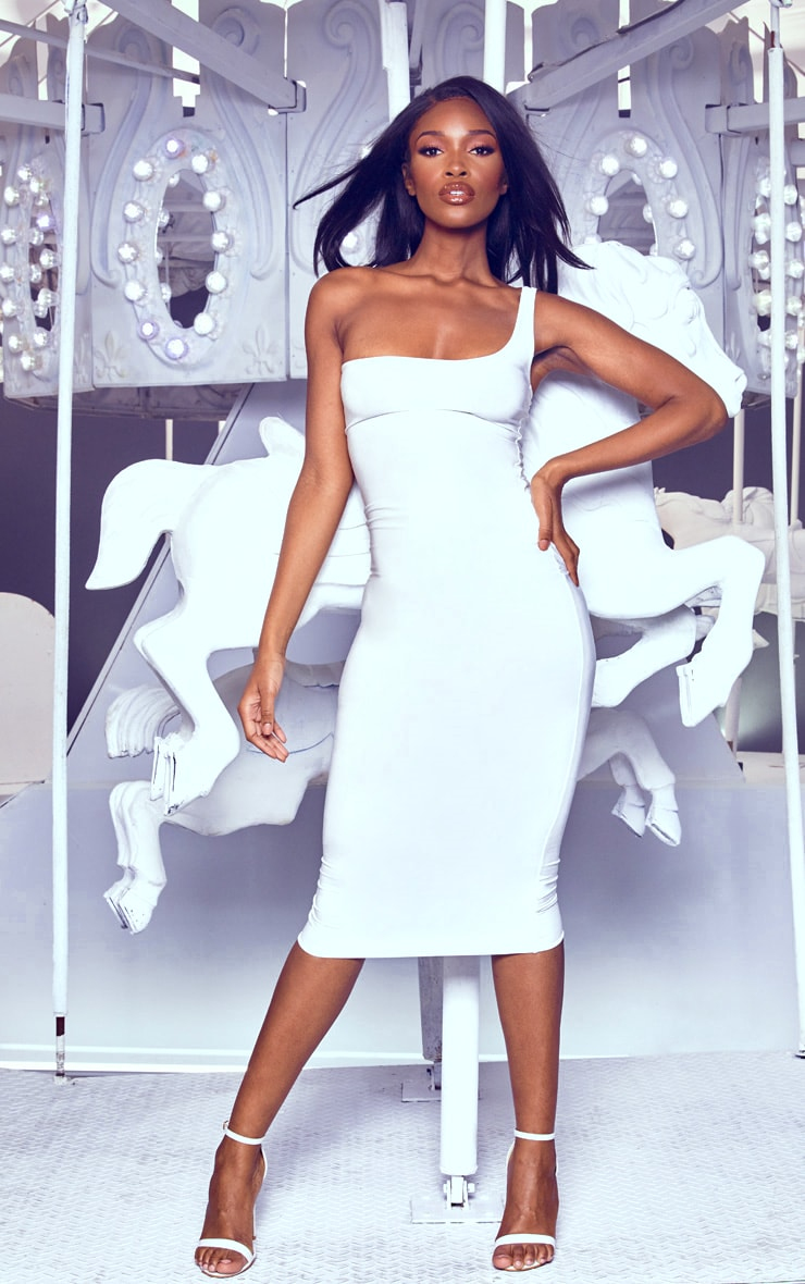 White One Shoulder Midaxi Dress 1
