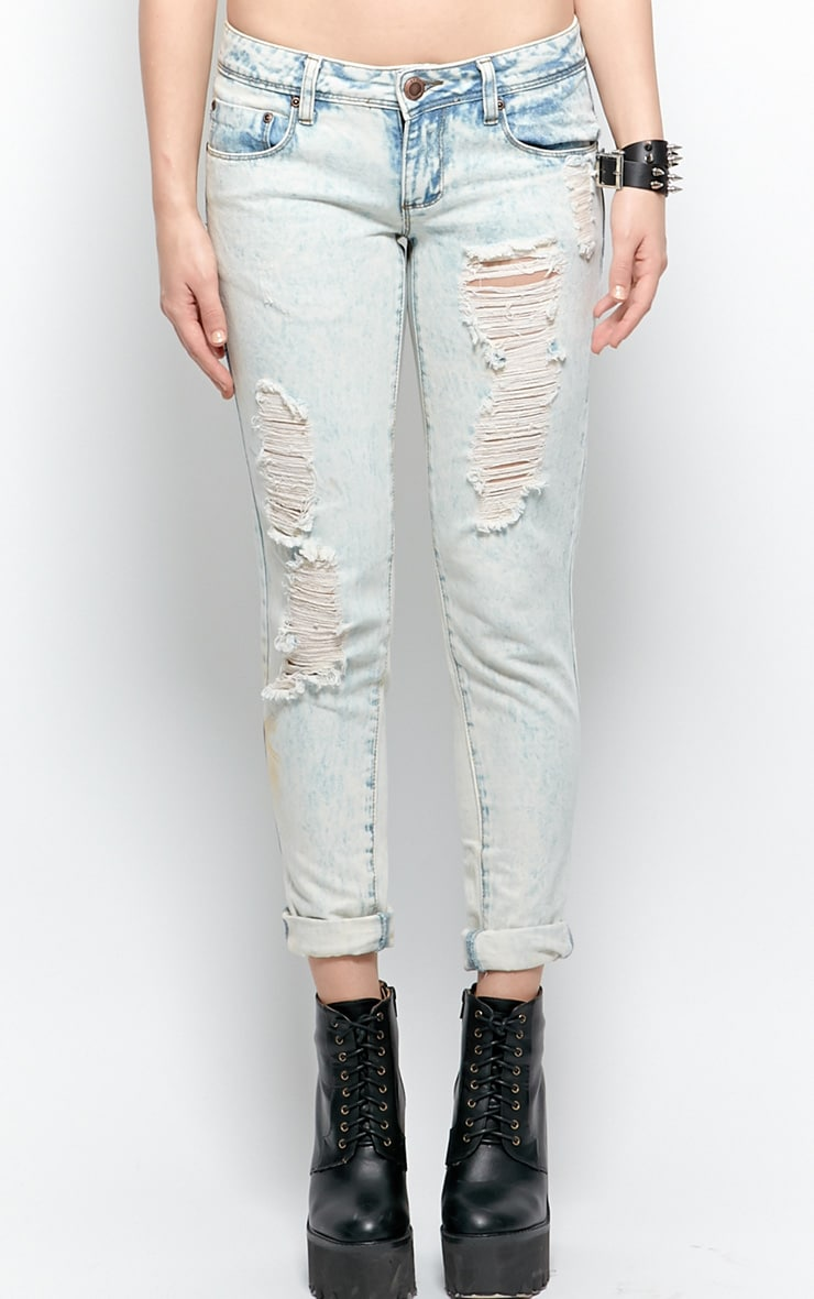 Bambi Bleach Denim Rip Jeans 2