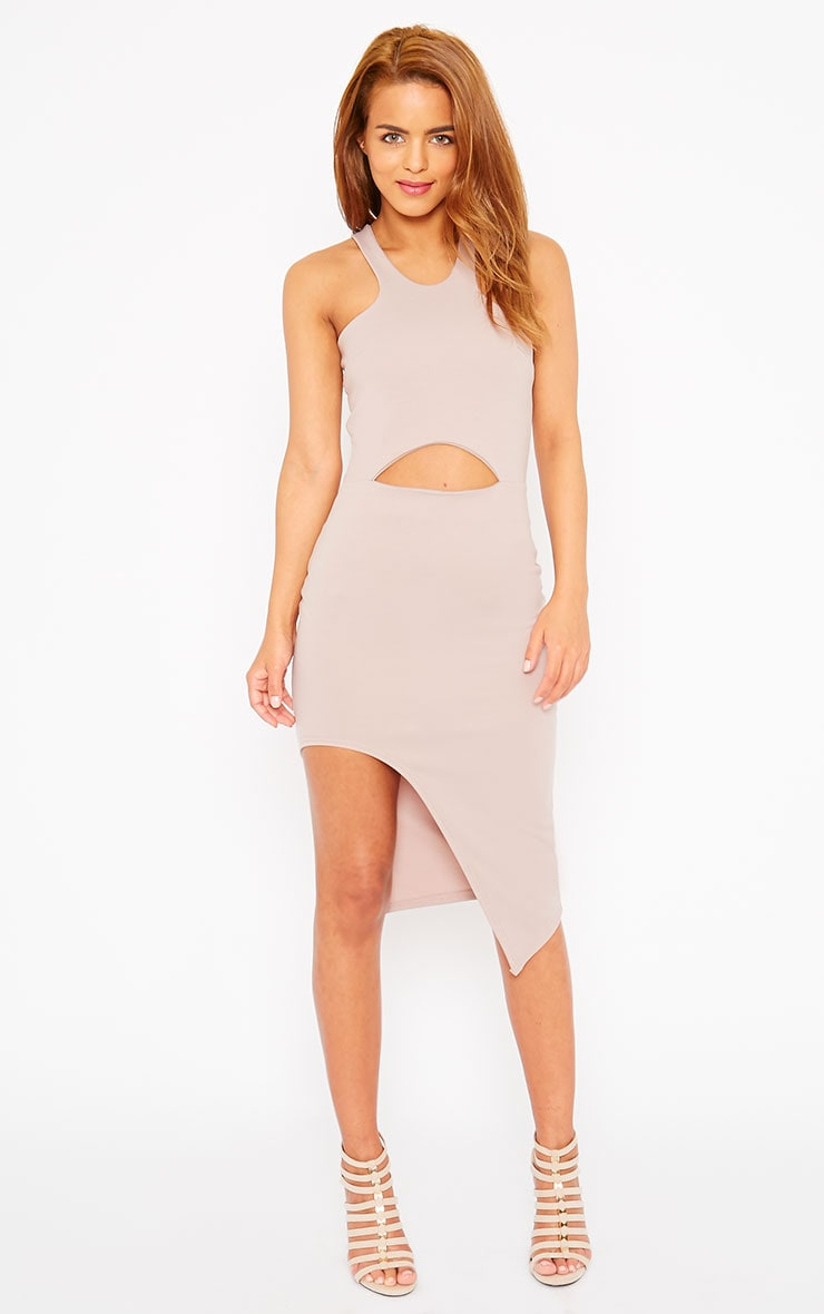 Sydney Mauve Cut Out Curve Split Dress 1