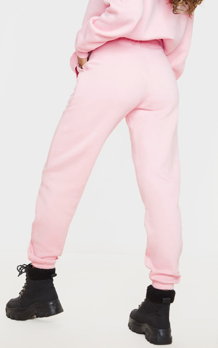 PRETTYLITTLETHING Light Pink High Waisted Jogger 3