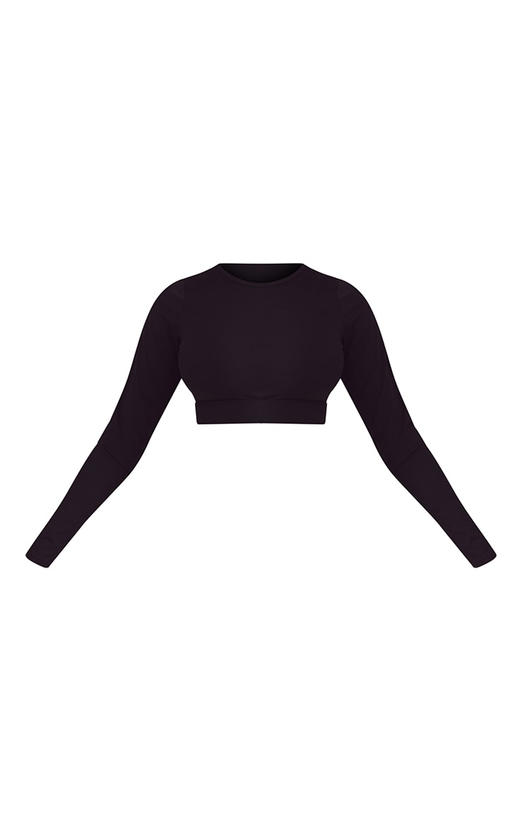 Black Sculpt Luxe Long Sleeve Sports Top 5