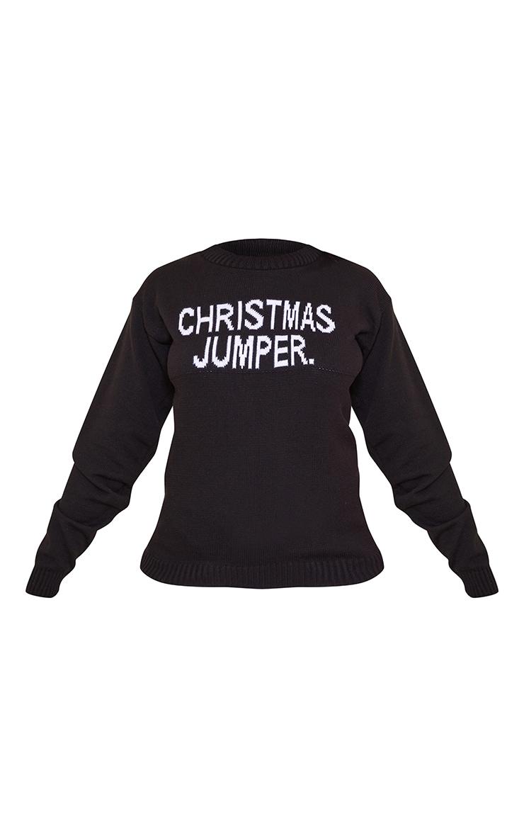 Black Christmas Jumper Slogan Jumper 5