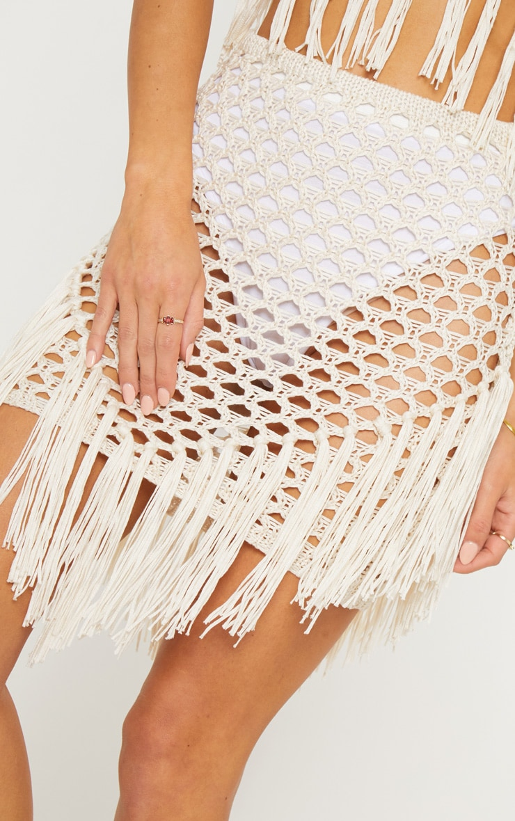 Cream Crochet Skirt 6