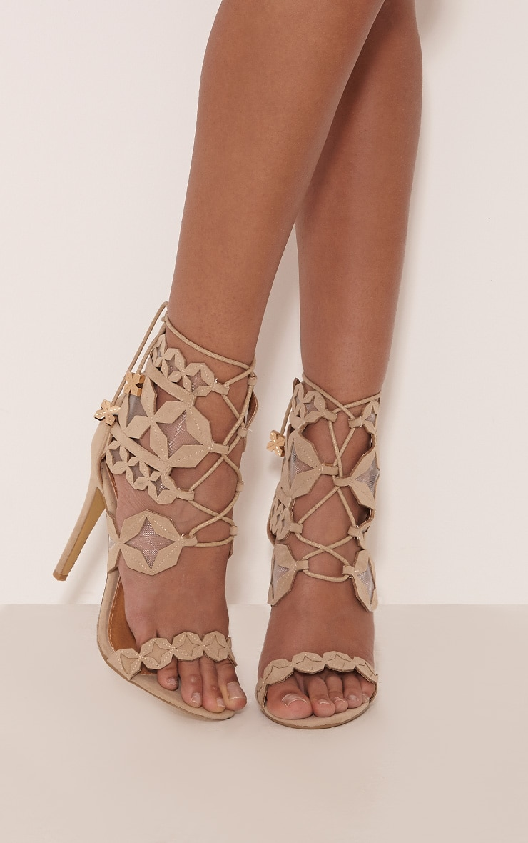 Esmee Stone Lace Up Star Strap Heels 1