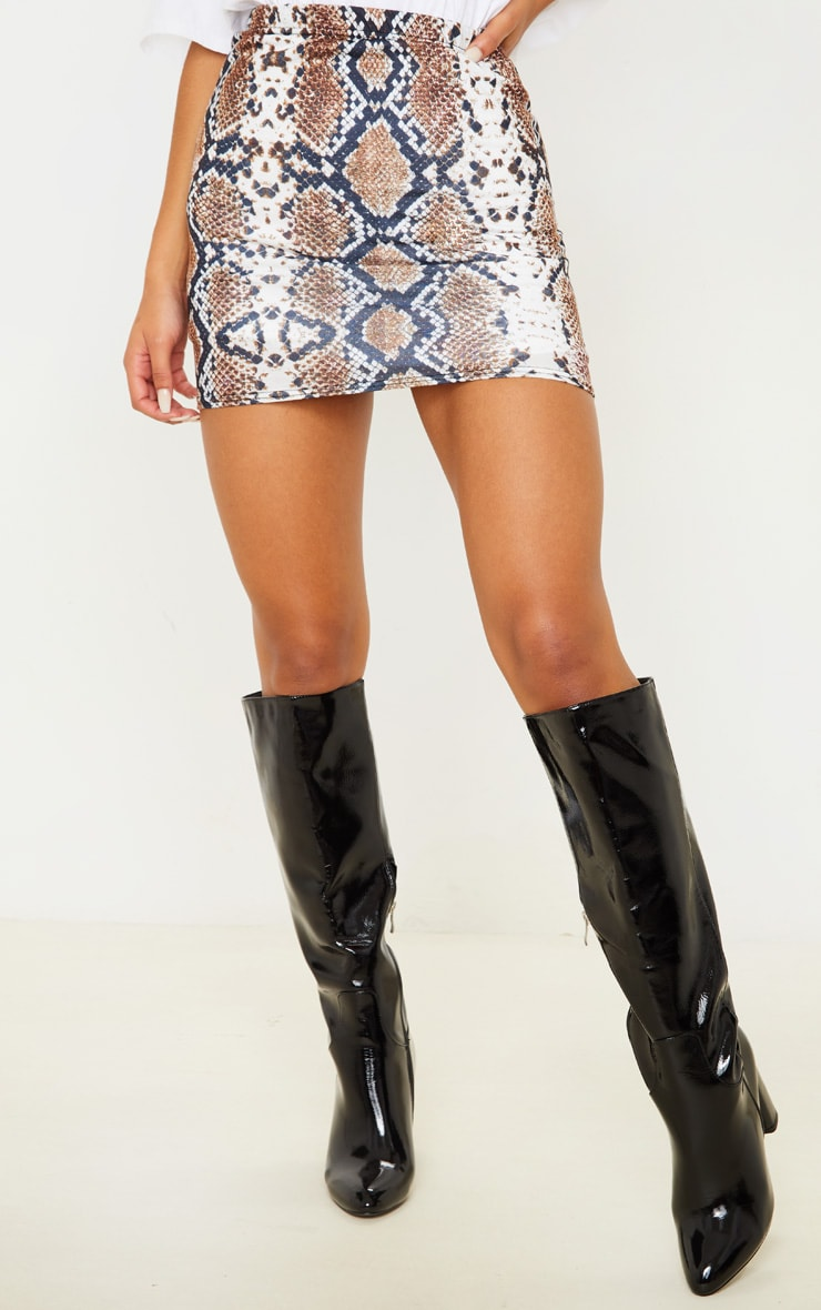Cloressa Snake Print Mini Skirt 2