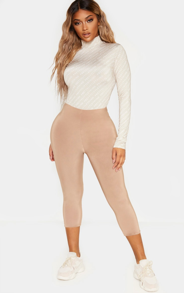 PRETTYLITTLETHING Shape Nude Printed Long Sleeve Bodysuit 4