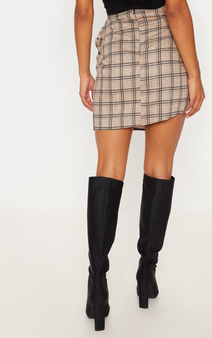 Stone Check Wrap Tie Skirt 4